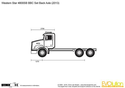 Western Star 4800SB BBC Set Back Axle
