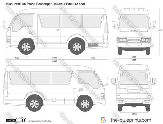 Isuzu NHR 55 Prona Passenger Deluxe 4 Pintu 12 seat