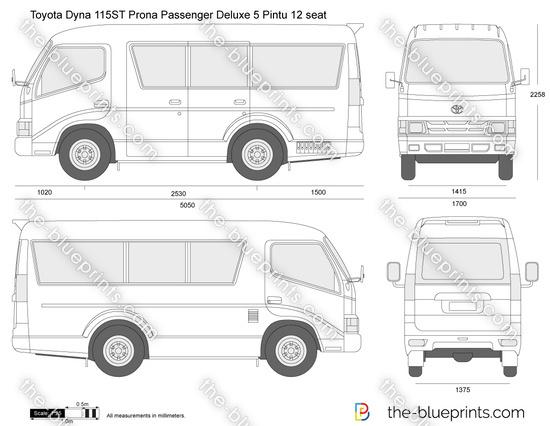 Toyota Dyna 115ST Prona Passenger Deluxe 5 Pintu 12 seat