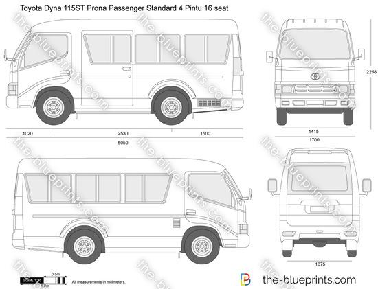 Toyota Dyna 115ST Prona Passenger Standard 4 Pintu 16 seat