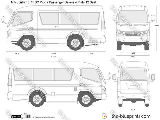 Mitsubishi FE 71 BC Prona Passenger Deluxe 4 Pintu 12 Seat