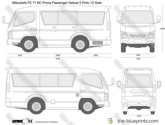 Mitsubishi FE 71 BC Prona Passenger Deluxe 5 Pintu 12 Seat
