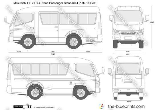 Mitsubishi FE 71 BC Prona Passenger Standard 4 Pintu 16 Seat