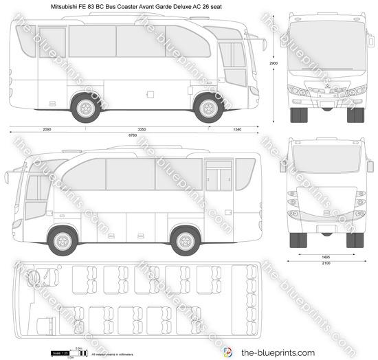 Mitsubishi FE 83 BC Bus Coaster Avant Garde Deluxe AC 26 seat