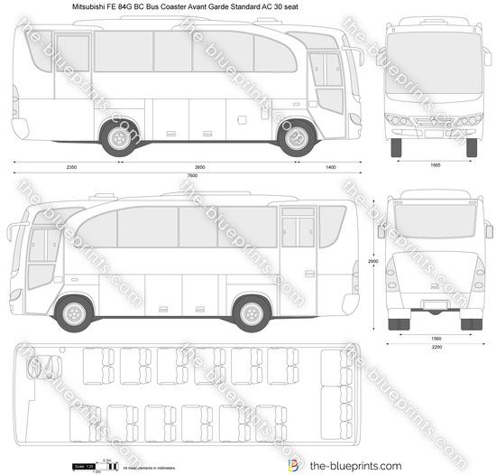Mitsubishi FE 84G BC Bus Coaster Avant Garde Standard AC 30 seat