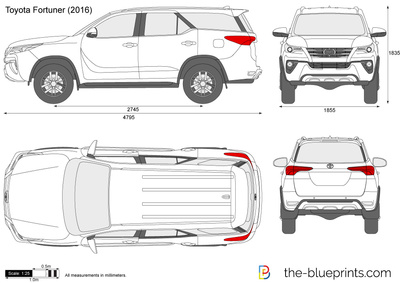 Toyota Fortuner vector drawing
