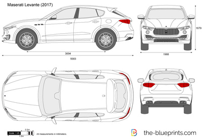 Maserati Levante Vector Drawing