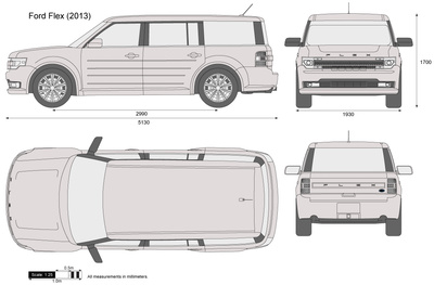Ford Flex Vector Drawing