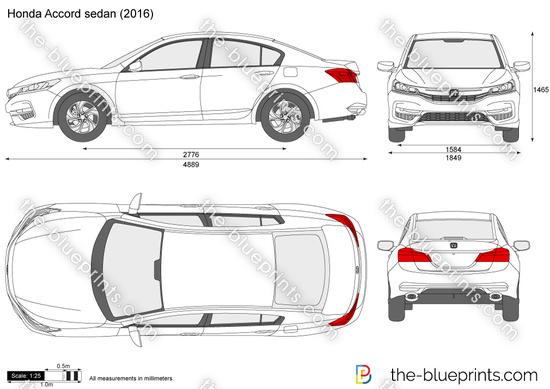 Honda Color Chart >> The-Blueprints.com - Vector Drawing - Honda Accord