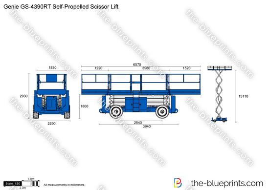 Genie GS-4390RT Self-Propelled Scissor Lift