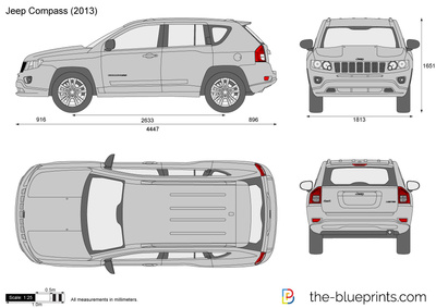Jeep Compass Vector Drawing