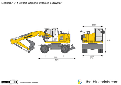 Liebherr A 914 Litronic Compact Wheeled Excavator