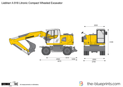 Liebherr A 918 Litronic Compact Wheeled Excavator