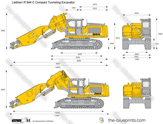 Liebherr R 944 C Compact Tunneling Excavator