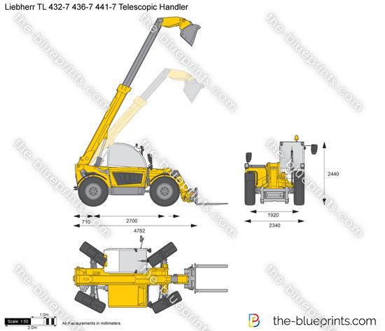 Liebherr TL 432-7 436-7 441-7 Telescopic Handler