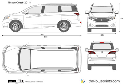Nissan Quest Vector Drawing