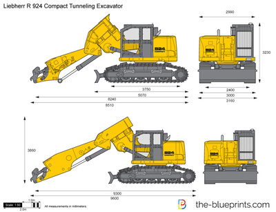 Liebherr R 924 Compact Tunneling Excavator