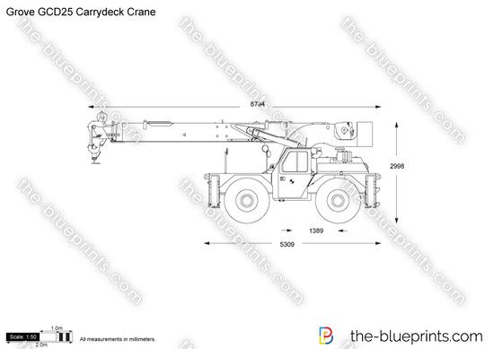Grove GCD25 Carrydeck Crane