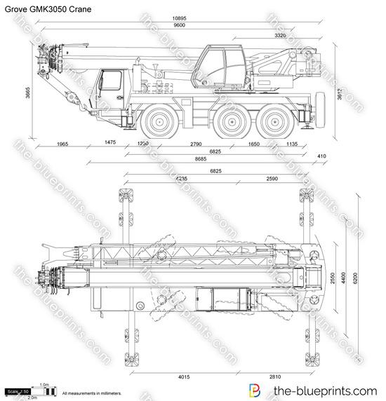 Grove GMK3050 Crane