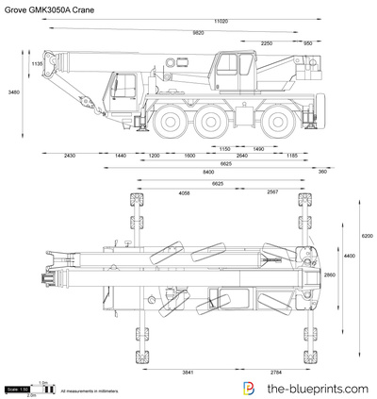 Grove GMK3050A Crane