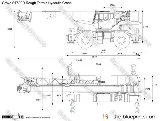 Grove RT500D Rough Terrain Hydaulic Crane