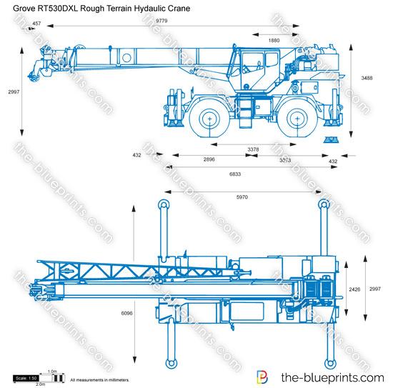 Grove RT530DXL Rough Terrain Hydaulic Crane