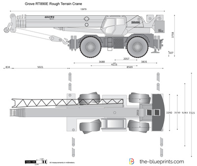 Grove RT890E Rough Terrain Crane