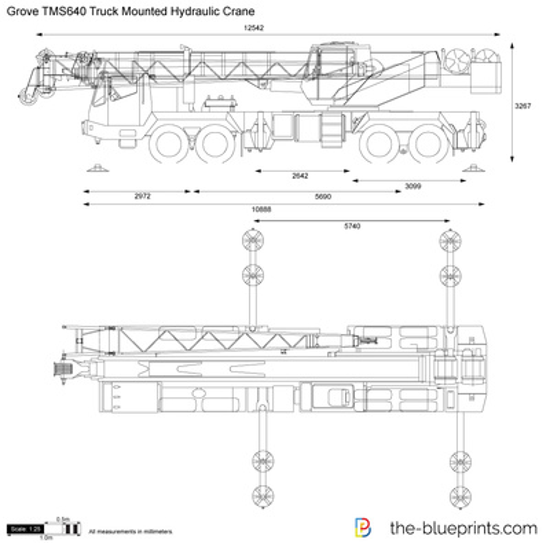 Grove TMS640 Truck Mounted Hydraulic Crane