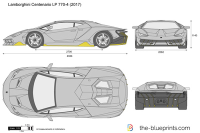 Lamborghini Centenario Lp 770 4 Vector Drawing