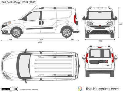 Fiat doblo cargo l2h1 vector drawing fiat doblo cargo l2h1 malvernweather Choice Image