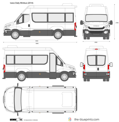 New Volkswagen Bus >> Iveco Daily Minibus vector drawing