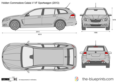 Holden Commodore Calais V VF Sportwagon