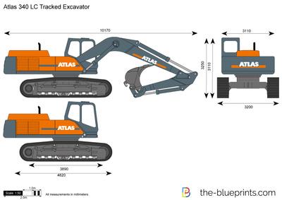 Atlas 340 LC Tracked Excavator