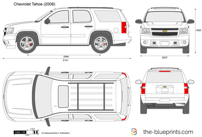 Chevrolet Tahoe Vector Drawing