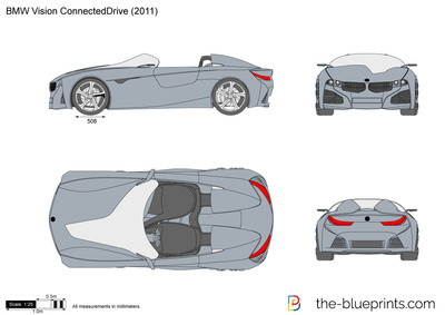 BMW Vision ConnectedDrive vector drawing