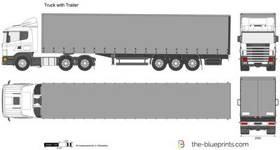 Truck with trailer vector drawing vector drawing preview truck with trailer malvernweather Gallery