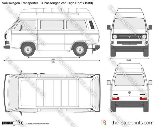 Volkswagen Transporter T3 Passenger Van High Roof