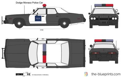 Dodge Monaco Police Car