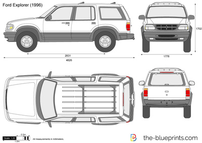 ford explorer vector drawing