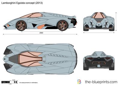 Lamborghini Egoista Concept Vector Drawing