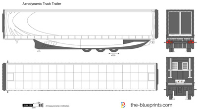 Aerodynamic Truck Trailer