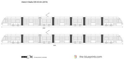 Alstom Citadis X05 43.4m
