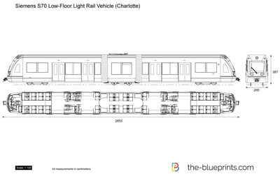 Siemens S70 Low-Floor Light Rail Vehicle (Charlotte)