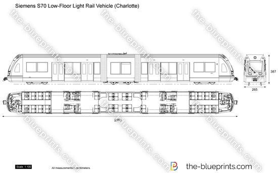 Siemens S70 Low-Floor Light Rail Vehicle (Charlotte)