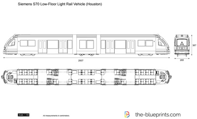 Siemens S70 Low-Floor Light Rail Vehicle (Houston)