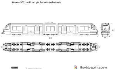 Siemens S70 Low-Floor Light Rail Vehicle (Portland)