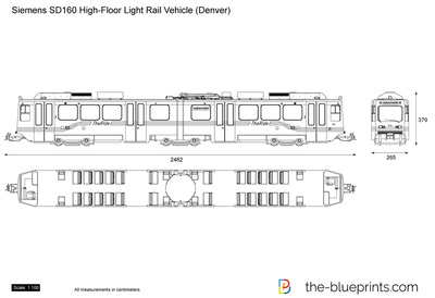 Siemens SD160 High-Floor Light Rail Vehicle (Denver)