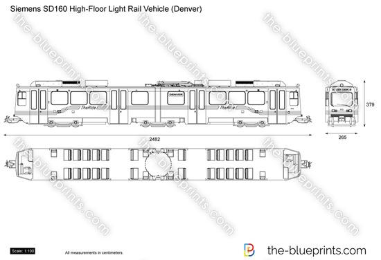 Siemens SD160 High-Floor Light Rail Vehicle (Denver)