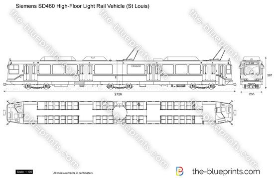 Siemens SD460 High-Floor Light Rail Vehicle (St Louis)