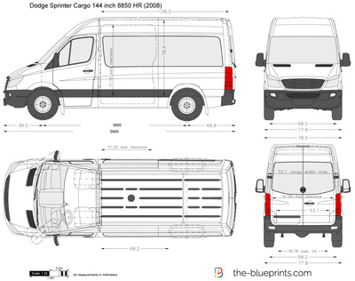 Dodge Sprinter Cargo 144 inch 8850 HR